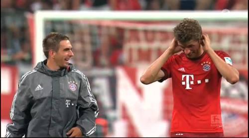 Thomas Müller & Philipp Lahm – Bayern v HSV 1