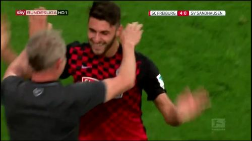 Vincenzo Grifo and Chrisian Streich - SC Freiburg v Sandhausen 1