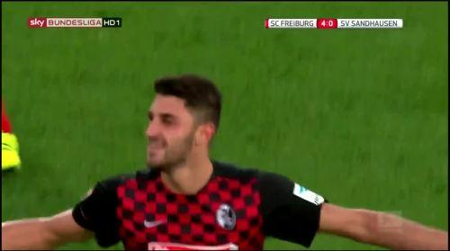 Vincenzo Grifo - second goal - SC Freiburg v SV Sandhausen 14