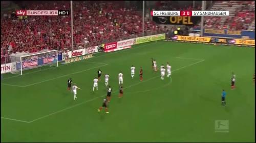 Vincenzo Grifo - second goal - SC Freiburg v SV Sandhausen 3