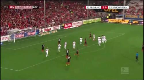 Vincenzo Grifo - second goal - SC Freiburg v SV Sandhausen 4