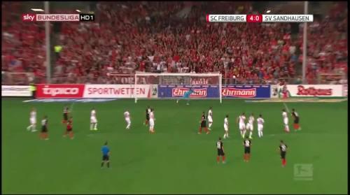 Vincenzo Grifo - second goal - SC Freiburg v SV Sandhausen 7