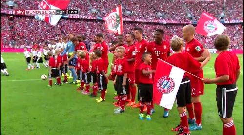 Bayern team line-up - FCB v B04