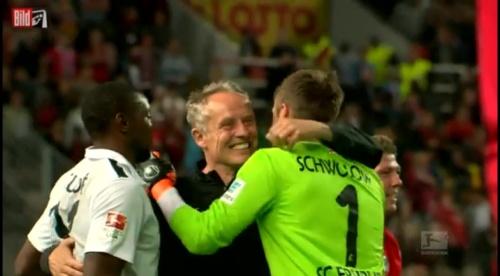 Christian Streich & Alexander Schwolow v 1.FCK v SC Freiburg 1