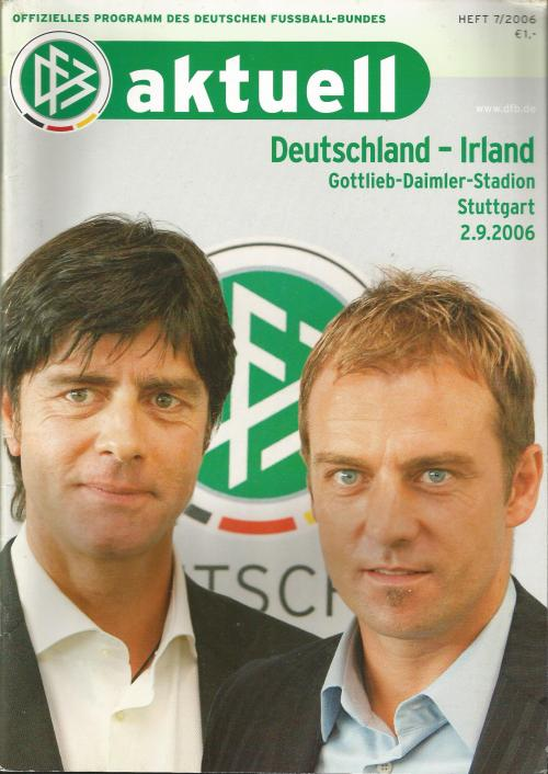 Deutschland-Irland - program 1