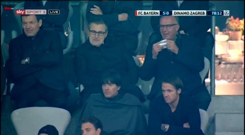 Joachim Löw at FC Bayern München v Dynamo Zagreb 3