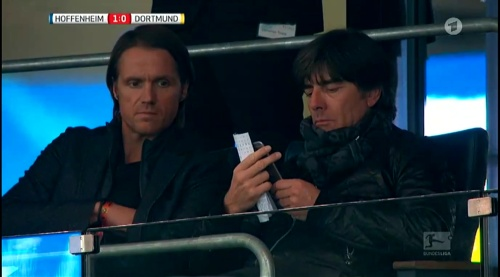 Joachim Löw at Hoffenheim v Dortmund 3