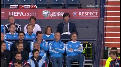 Joachim Löw – Scotland v Germany – 1st half 10