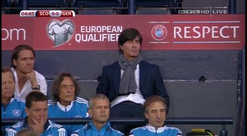 Joachim Löw – Scotland v Germany – 1st half 11