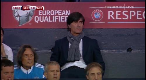 Joachim Löw – Scotland v Germany – 1st half 12