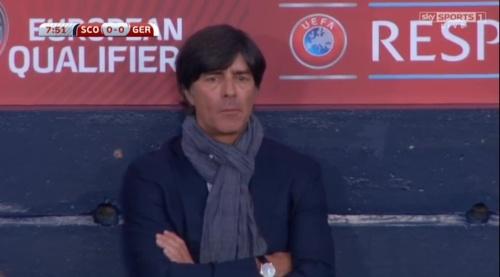Joachim Löw – Scotland v Germany – 1st half 14