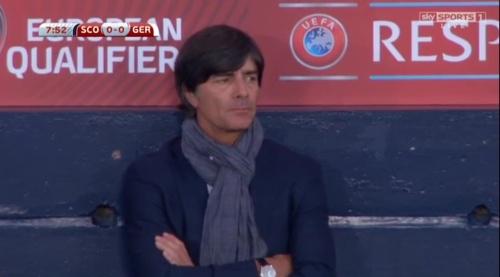 Joachim Löw – Scotland v Germany – 1st half 15