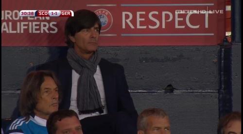 Joachim Löw – Scotland v Germany – 1st half 18