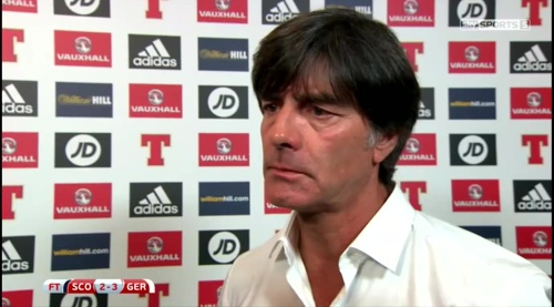 Joachim Löw – Scotland v Germany – post-match interview 1