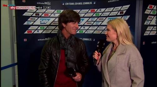 Joachim Löw - half-time interview - Hoffenheim v Dortmund 1