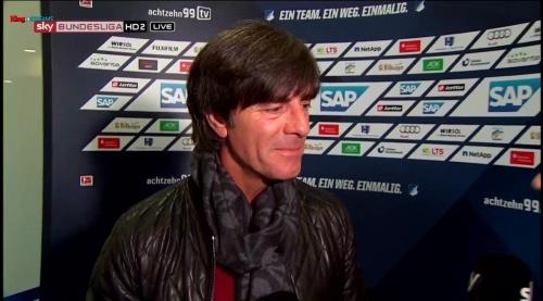 Joachim Löw - half-time interview - Hoffenheim v Dortmund 10