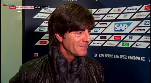 Joachim Löw - half-time interview - Hoffenheim v Dortmund 15