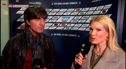 Joachim Löw - half-time interview - Hoffenheim v Dortmund 16