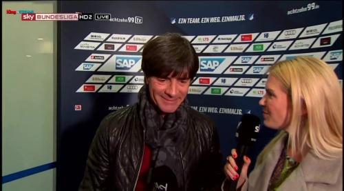Joachim Löw - half-time interview - Hoffenheim v Dortmund 21