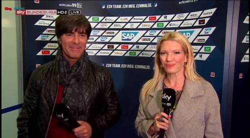 Joachim Löw - half-time interview - Hoffenheim v Dortmund 24