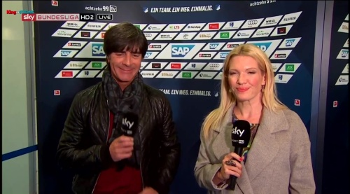 Joachim Löw - half-time interview - Hoffenheim v Dortmund 26