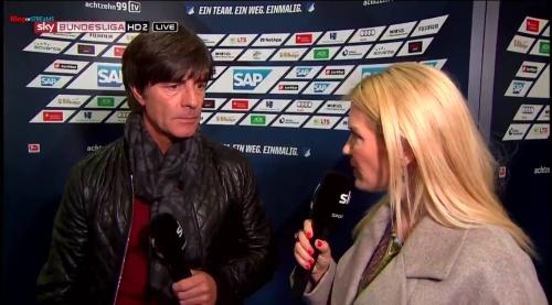 Joachim Löw - half-time interview - Hoffenheim v Dortmund 6