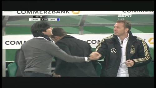 Joachim Löw & Hansi Flick – Germany v Australia (2011) 14