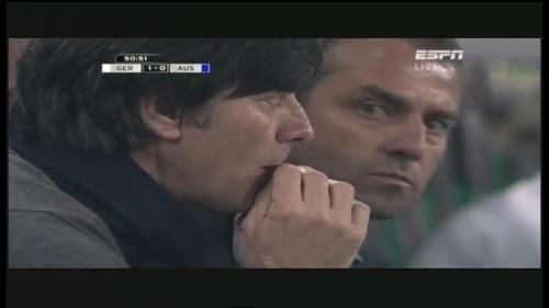 Joachim Löw & Hansi Flick – Germany v Australia (2011) 17
