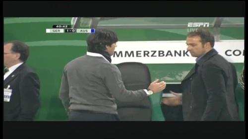 Joachim Löw & Hansi Flick – Germany v Australia (2011) 9