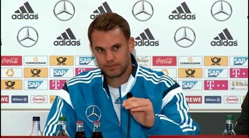 Manuel Neuer – SCO-DEU press conference 1