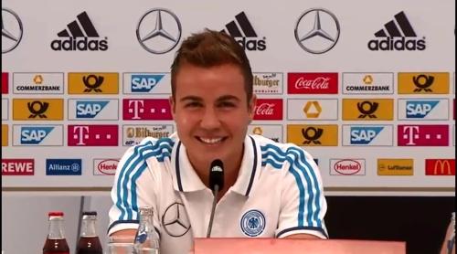 Mario Götze - press conference 1