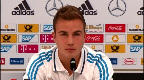 Mario Götze - press conference 2