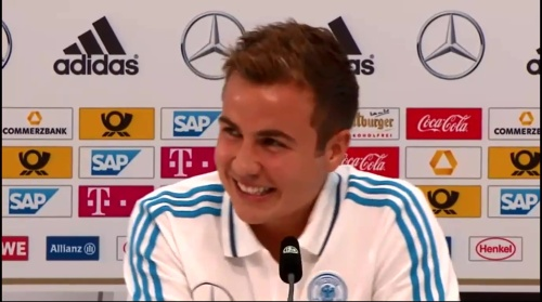 Mario Götze - press conference 4