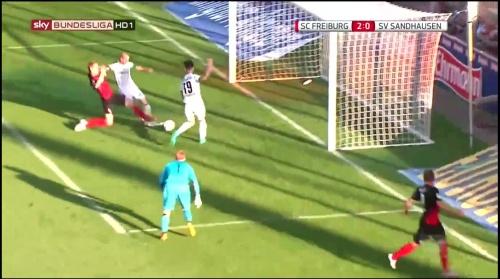 Nils Petersen goal - SCF v SVS 1
