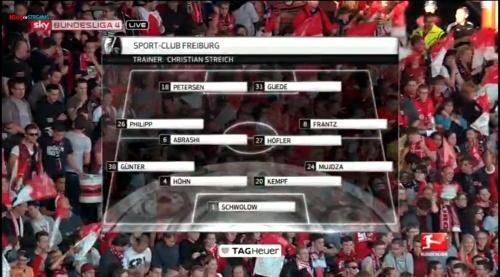SC Freiburg v Arminia Bielefeld - line-up