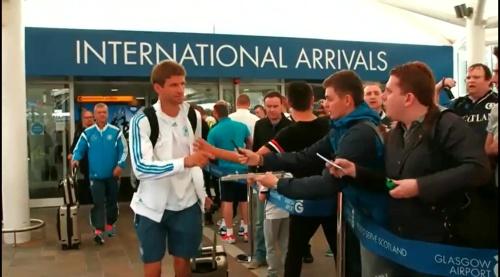 Thomas Müller - Ankunft in Glasgow und PK