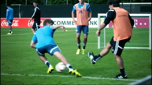 Thomas Müller & Joachim Löw – training 1