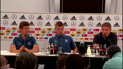 Thomas Müller & Toni Kroos - press conference 1