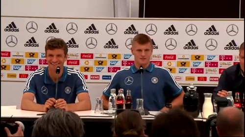 Thomas Müller & Toni Kroos - press conference 2