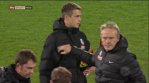 Alexander Schwolow & Christian Streich - SC Freiburg v FCA - DFB Pokal 2015-16 3