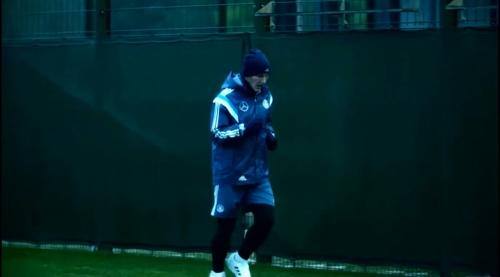 Bastian Schweinsteiger - training in Leipzig