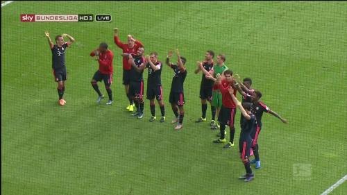 Bayern celebrate - Mainz 2015-16