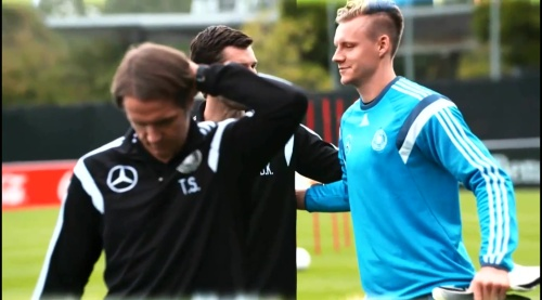 Bernd Leno - training in Frankfurt 1