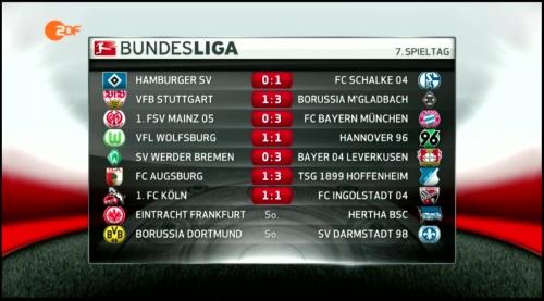 Bundesliga - MD7 results