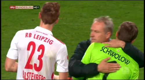Christian Streich & Alexander Schwolow - RB Leipzig v SC Freiburg