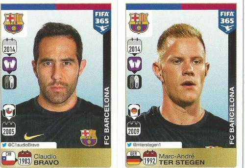 Claudio Bravo- Marc-Andre ter Stegen - FC Barcelona - FIFA 365 sticker