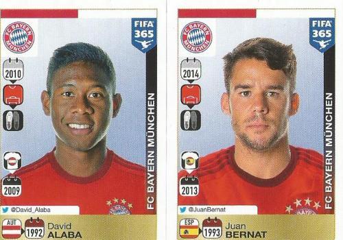 David Alaba-Juan Bernat - Bayern - FIFA 365 sticker
