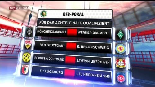 DFB Pokal 2015-16 - last 16 2