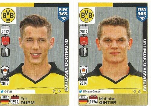 Erik Durm-Matthias Ginter - Borussia Dortmund - FIFA 365 sticke