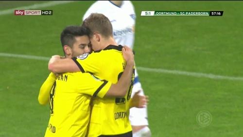 Ilkay Gündogan & Matthias Ginter – Dortmund v Paderborn –DFB Pokal 15-16 1